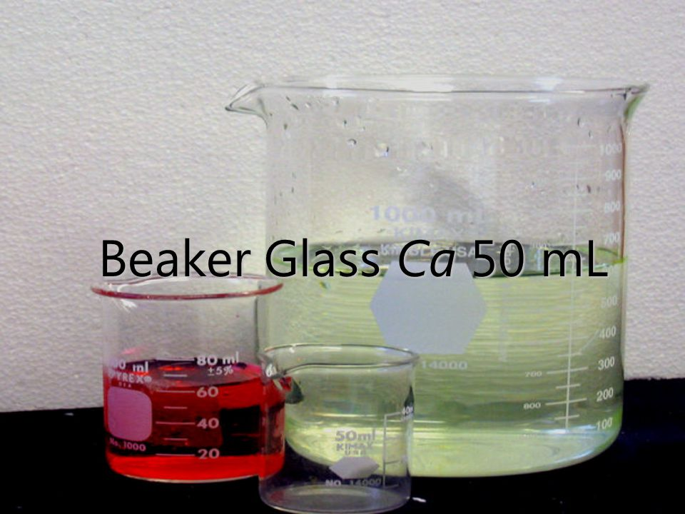 Beaker Glass Ca 50 mL