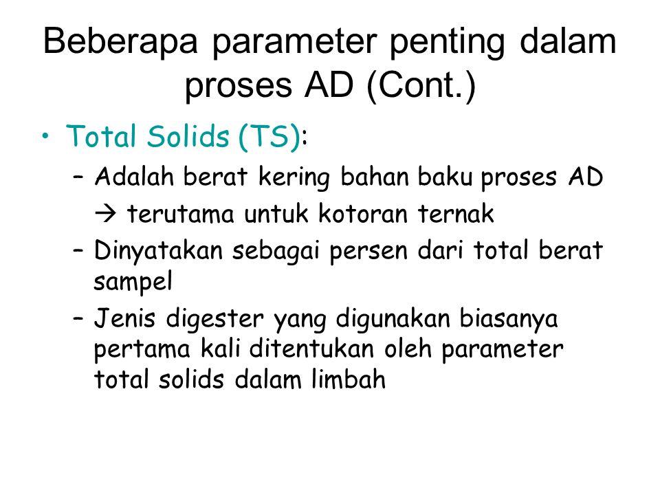 Beberapa parameter penting dalam proses AD (Cont.)