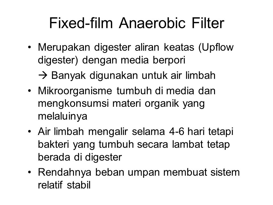 Fixed-film Anaerobic Filter