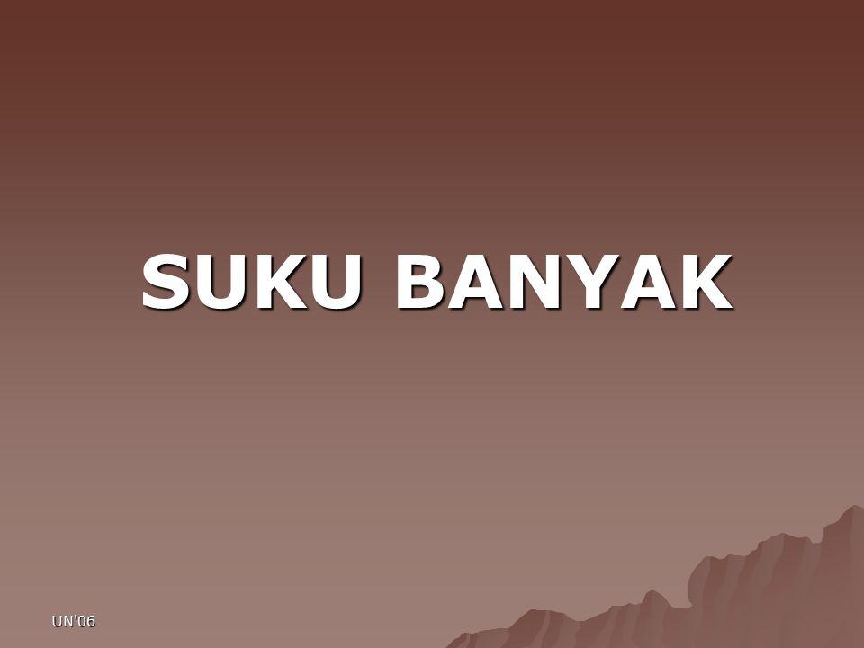 SUKU BANYAK UN 06 UN 06