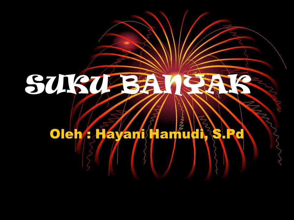Oleh : Hayani Hamudi, S.Pd