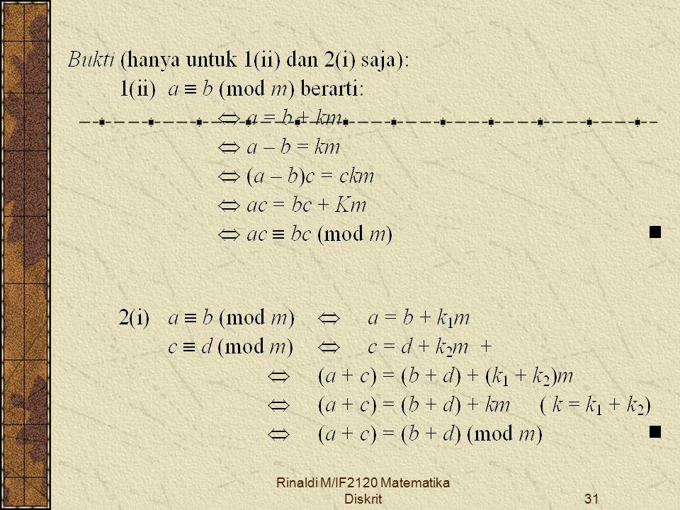 Rinaldi M/IF2120 Matematika Diskrit