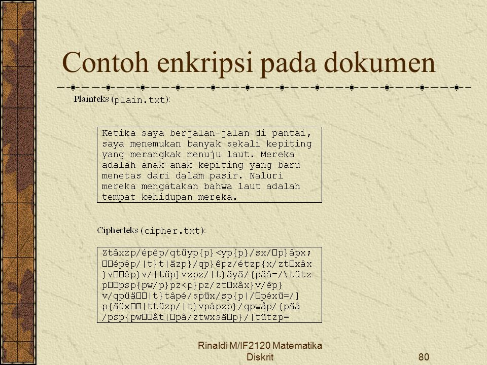 Contoh enkripsi pada dokumen