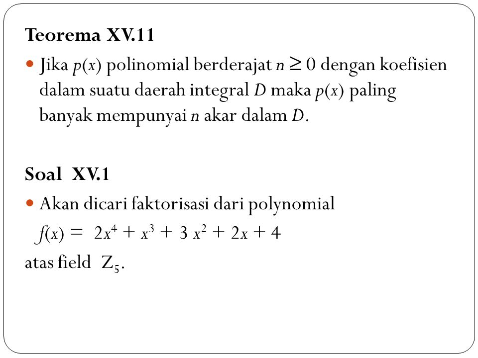 Teorema XV.11