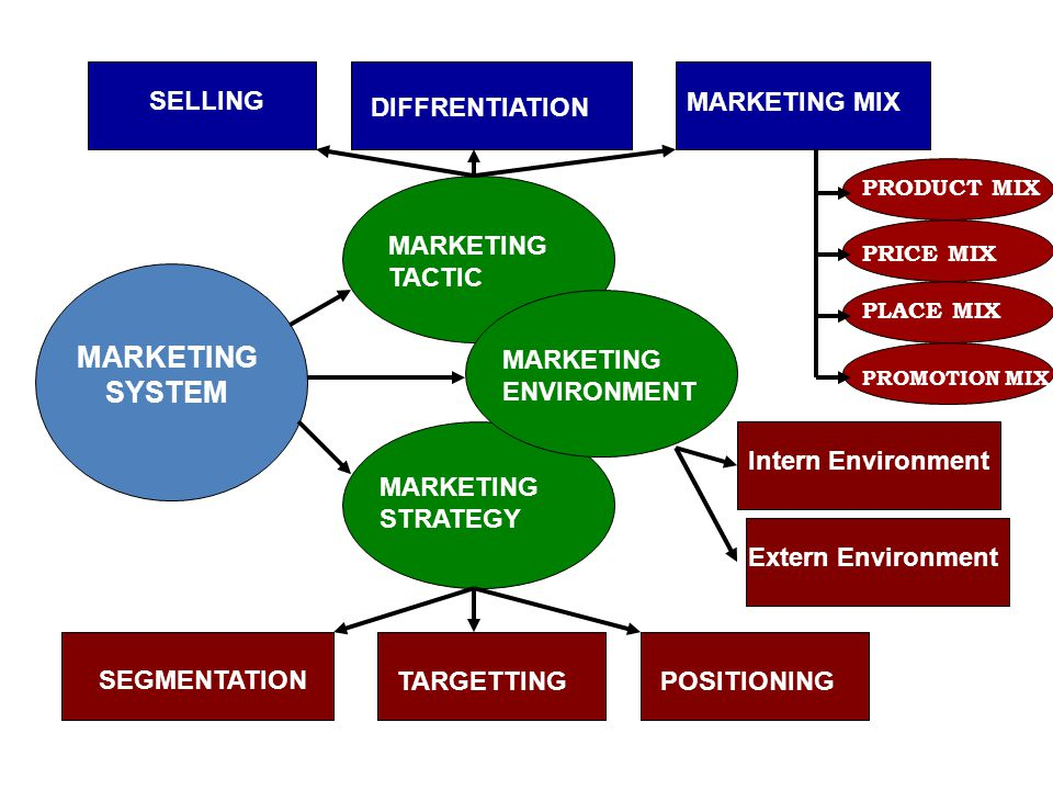 MARKETING SYSTEM SELLING DIFFRENTIATION MARKETING MIX MARKETING TACTIC