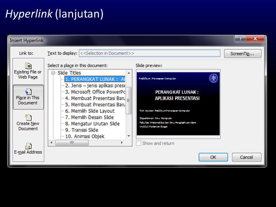 Hyperlink (lanjutan)