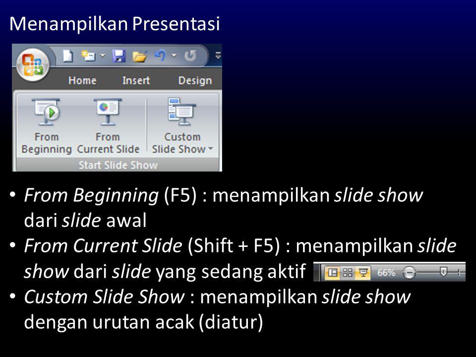 Menampilkan Presentasi