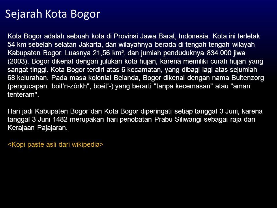 Sejarah Kota Bogor