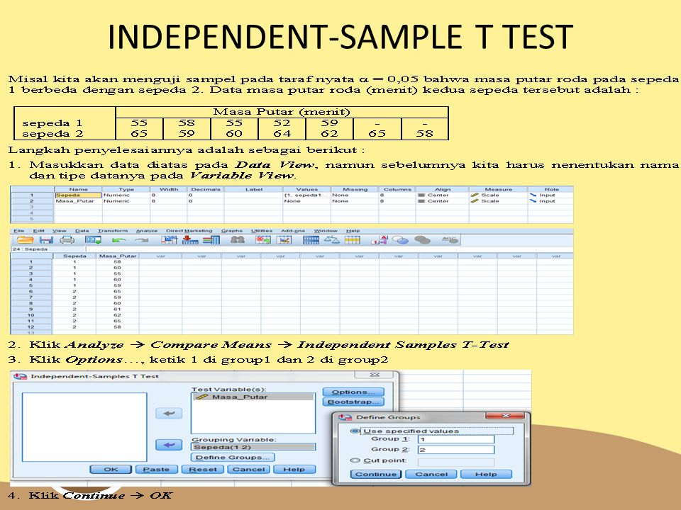 INDEPENDENT-SAMPLE T TEST