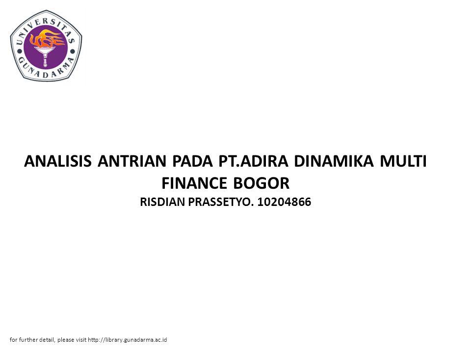 ANALISIS ANTRIAN PADA PT