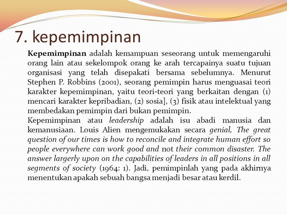 7. kepemimpinan