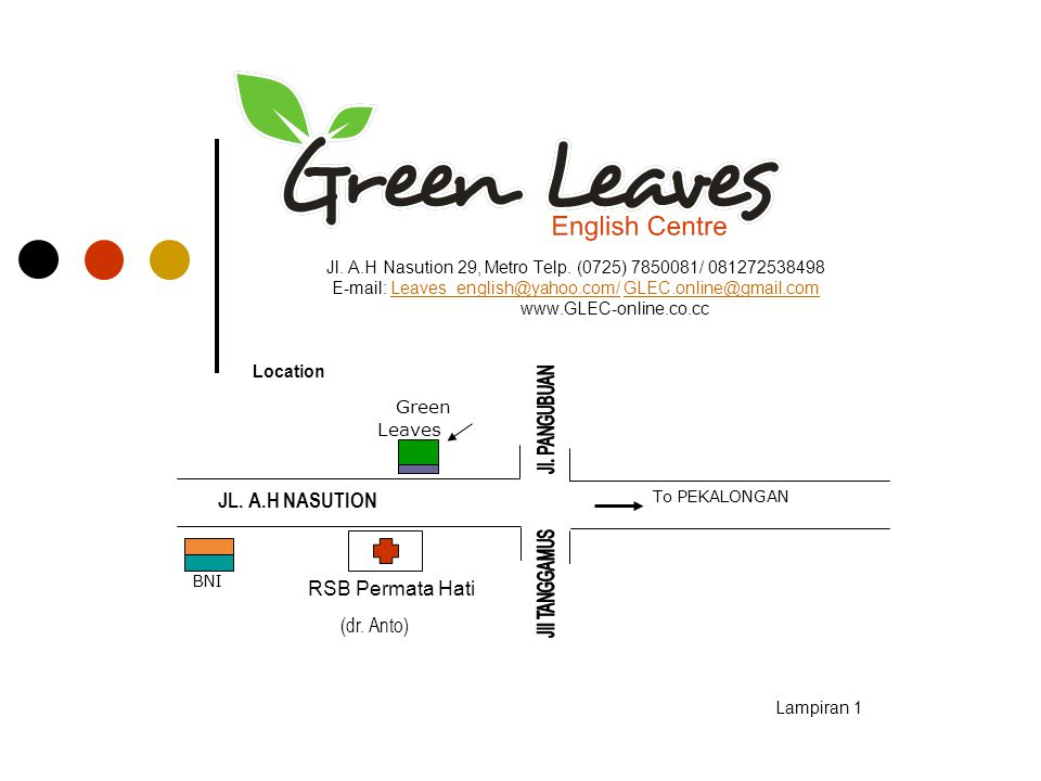 JL. A.H NASUTION RSB Permata Hati (dr. Anto) Green Leaves