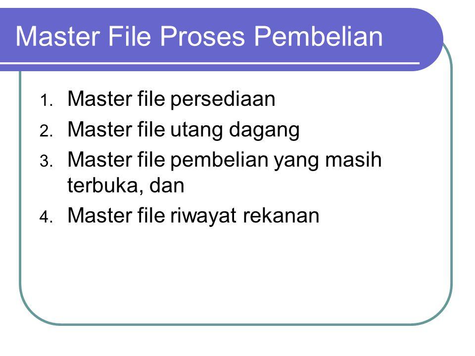 Master File Proses Pembelian