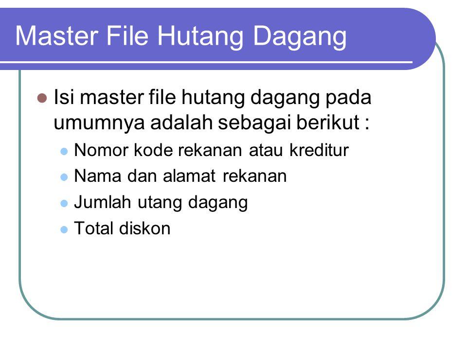 Master File Hutang Dagang