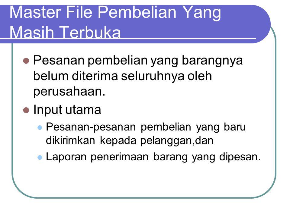 Master File Pembelian Yang Masih Terbuka