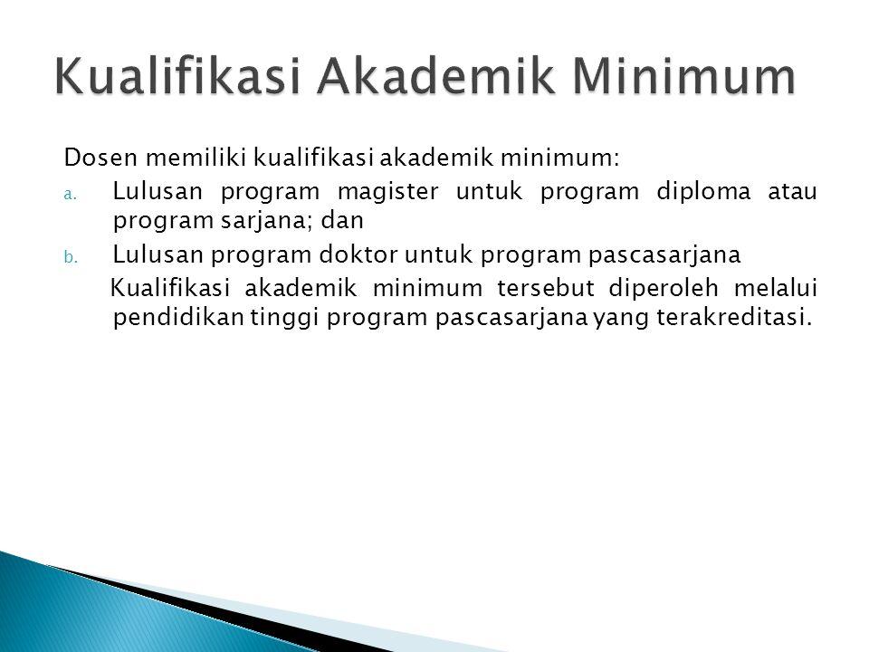 Kualifikasi Akademik Minimum