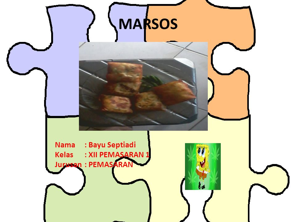 MARSOS Nama : Bayu Septiadi Kelas : XII PEMASARAN 1