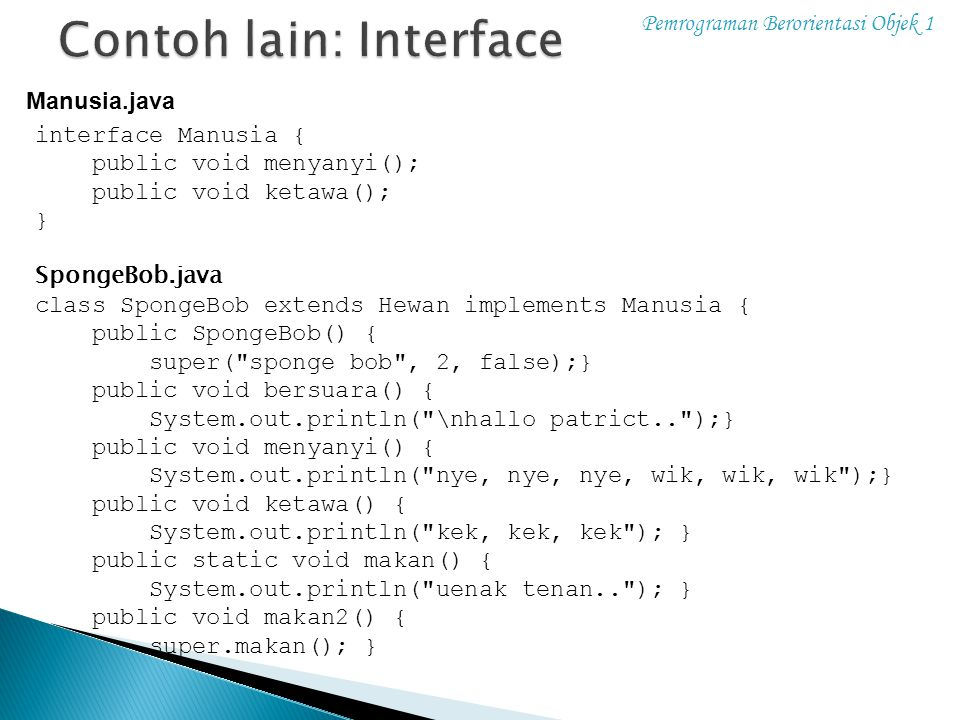 Contoh lain: Interface