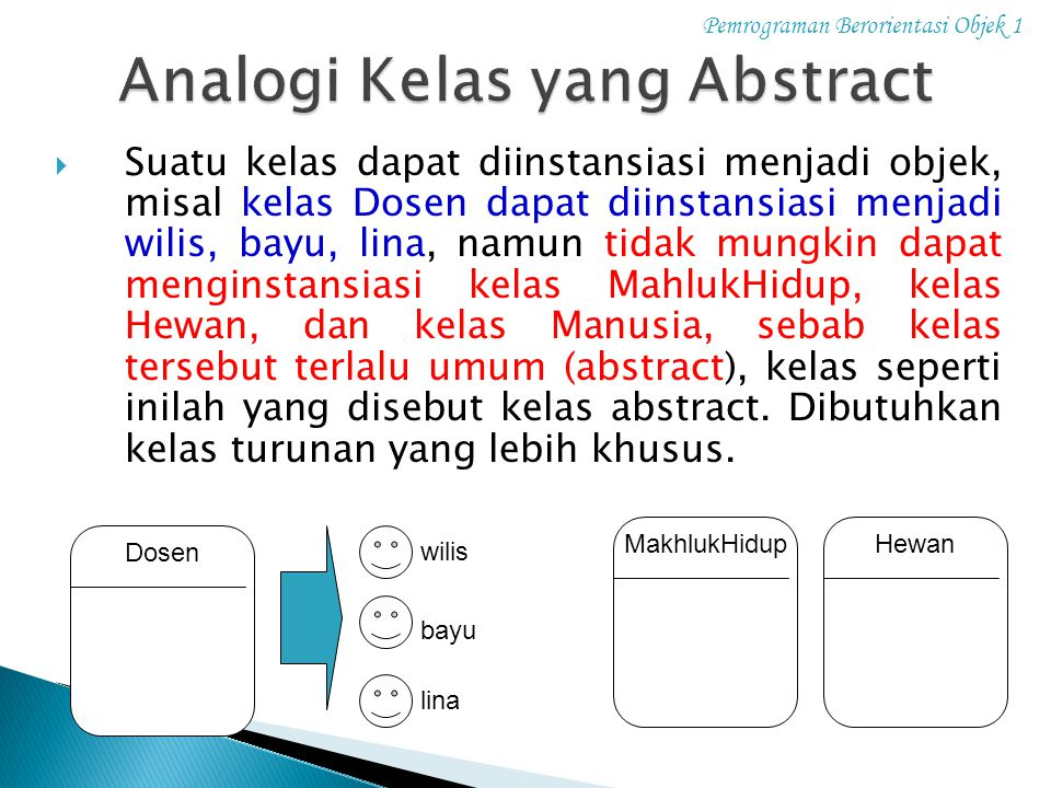 Analogi Kelas yang Abstract