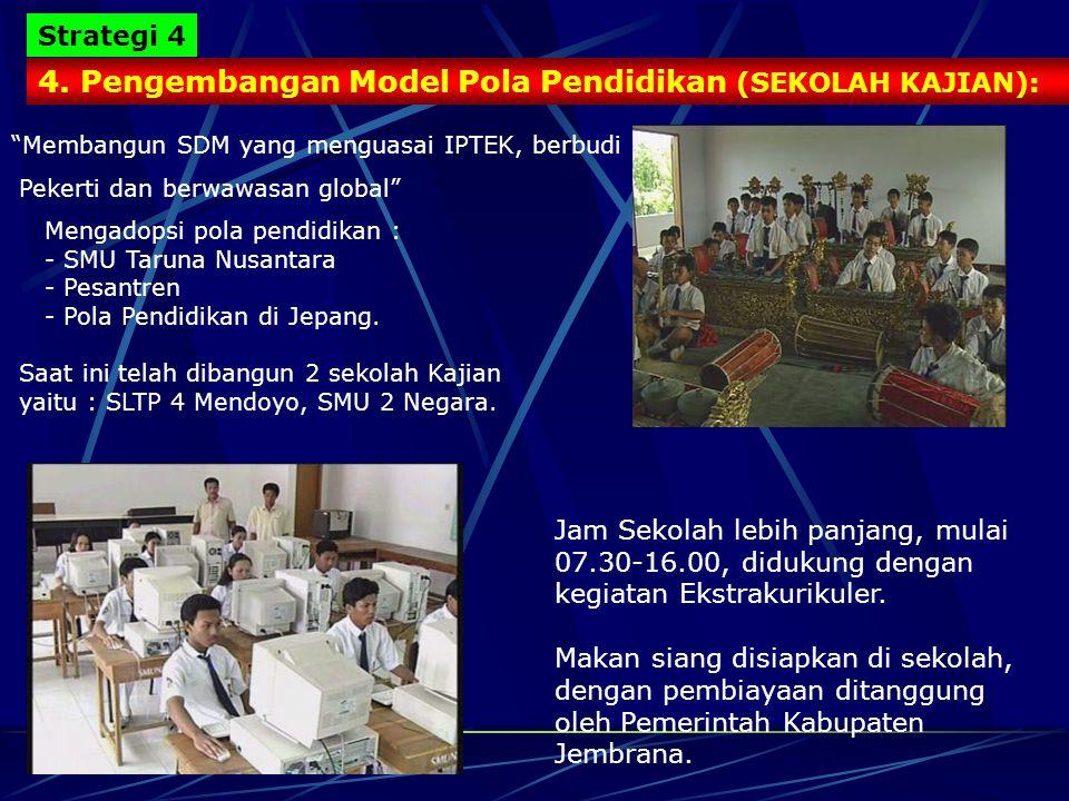 4. Pengembangan Model Pola Pendidikan (SEKOLAH KAJIAN):