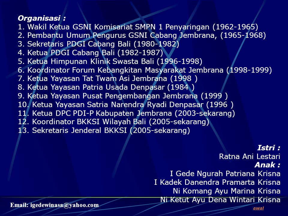 1. Wakil Ketua GSNI Komisariat SMPN 1 Penyaringan (1962-1965)
