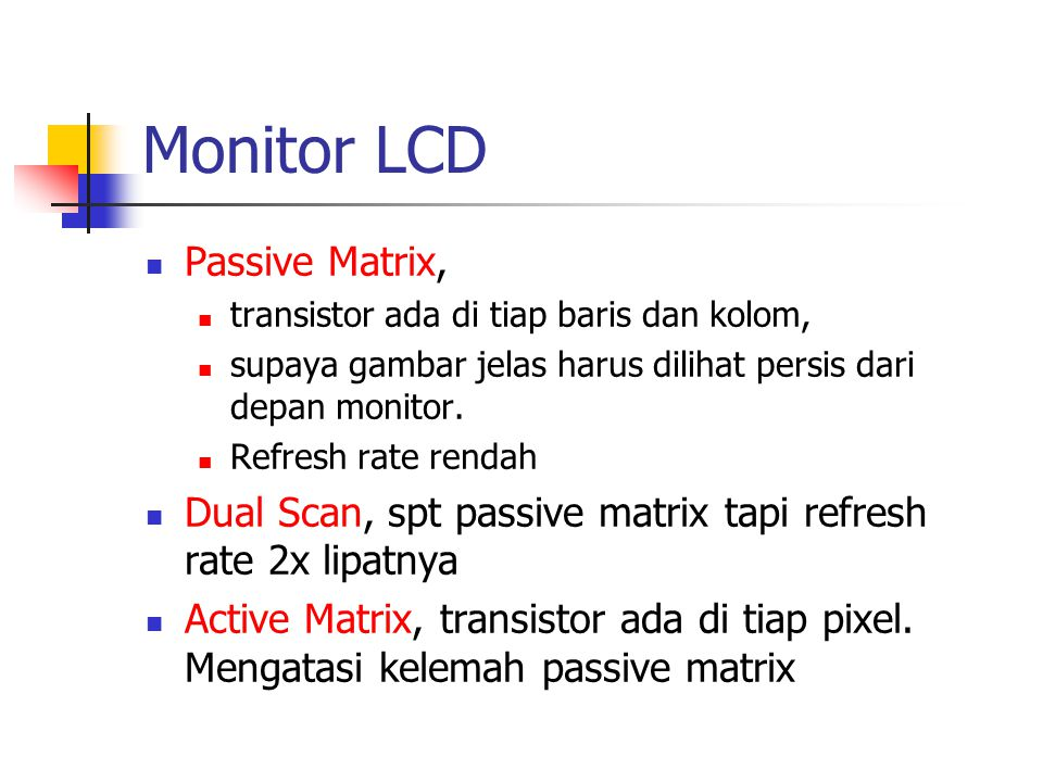 Monitor LCD Passive Matrix,