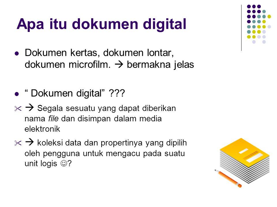 Apa itu dokumen digital