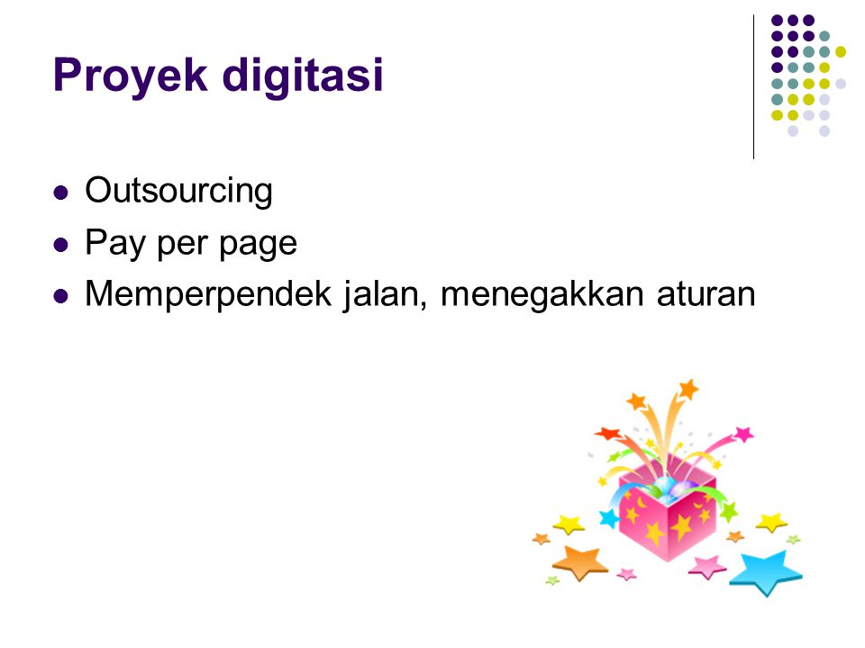 Proyek digitasi Outsourcing Pay per page