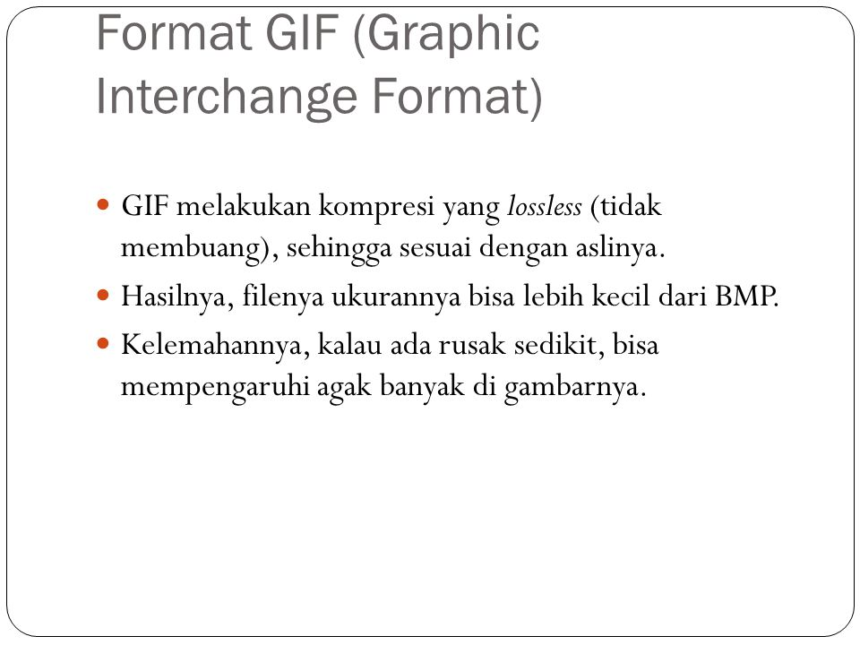 Format GIF (Graphic Interchange Format)