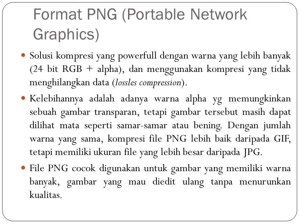 Format PNG (Portable Network Graphics)