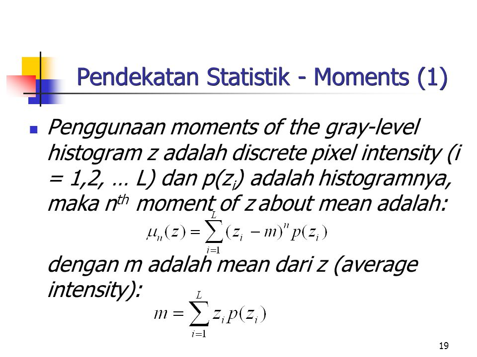 Pendekatan Statistik - Moments (1)