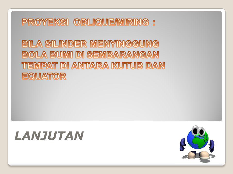 LANJUTAN PROYEKSI OBLIQUE/MIRING :
