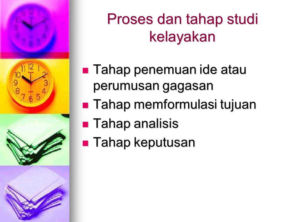 Proses dan tahap studi kelayakan