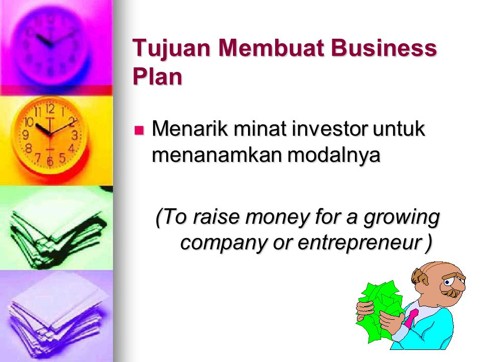 Tujuan Membuat Business Plan