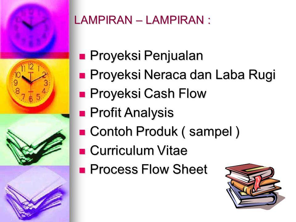 Proyeksi Neraca dan Laba Rugi Proyeksi Cash Flow Profit Analysis