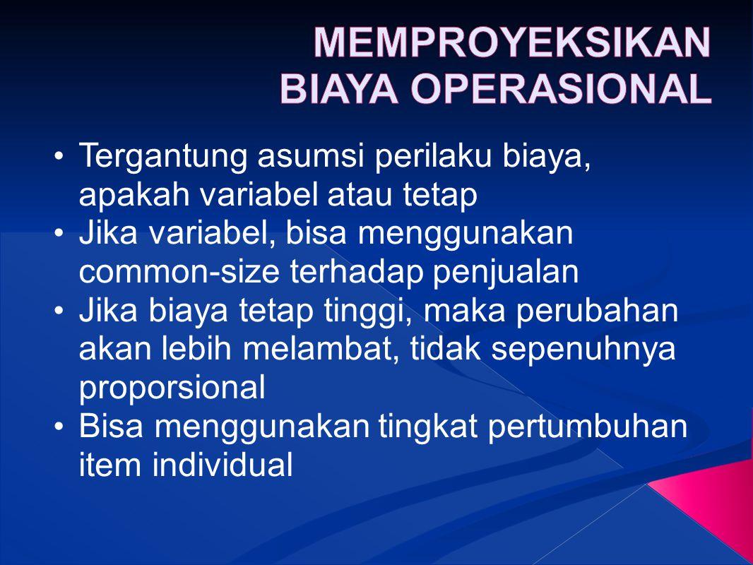 MEMPROYEKSIKAN BIAYA OPERASIONAL