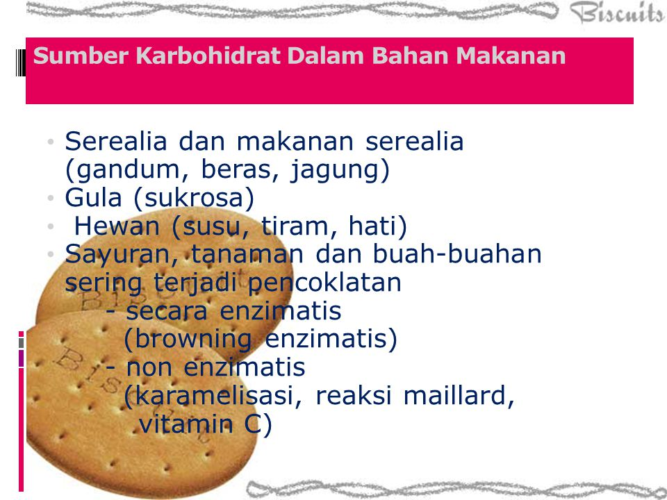 Sumber Karbohidrat Dalam Bahan Makanan