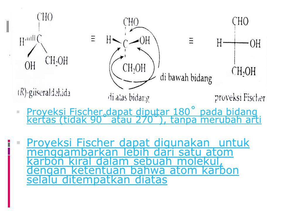 Proyeksi Fischer dapat diputar 180˚ pada bidang kertas (tidak 90˚ atau 270˚), tanpa merubah arti