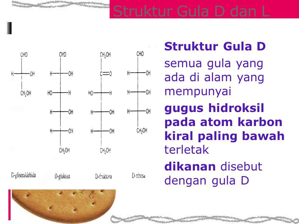 Struktur Gula D dan L