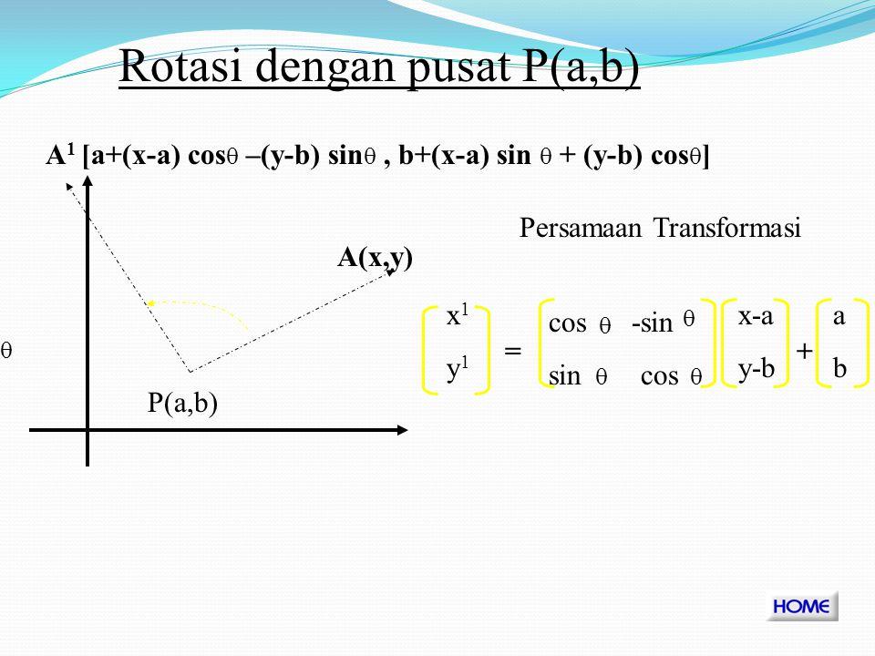 Rotasi dengan pusat P(a,b)