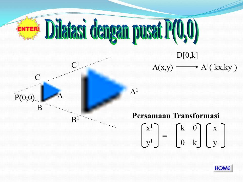 Dilatasi dengan pusat P(0,0)