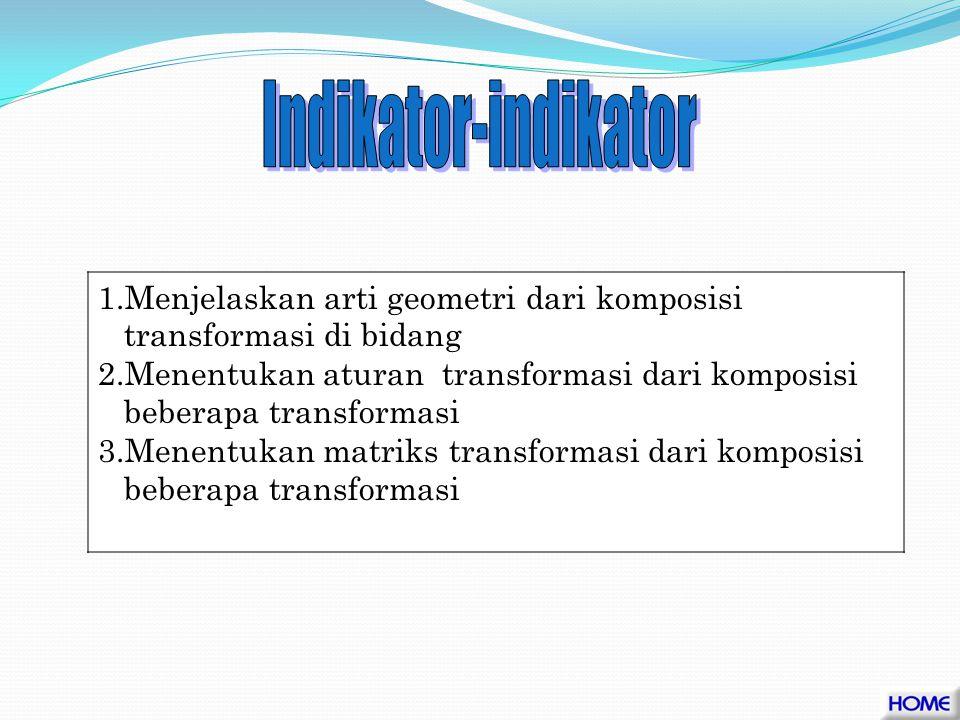 Indikator-indikator Menjelaskan arti geometri dari komposisi