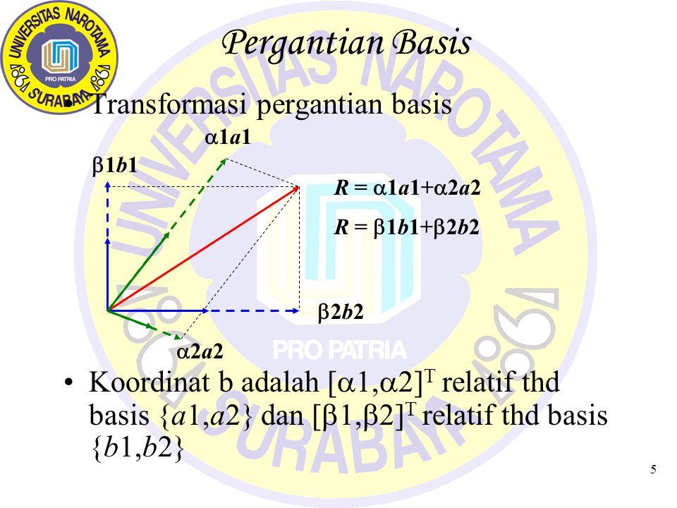 Pergantian Basis Transformasi pergantian basis