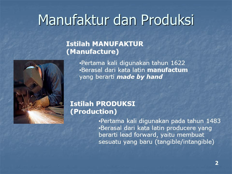 Manufaktur dan Produksi