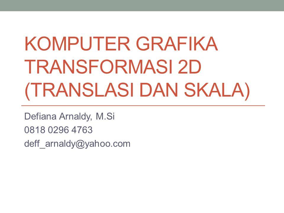 KOMPUTER GRAFIKA TRANSFORMASI 2D (TRANSLASI DAN SKALA)