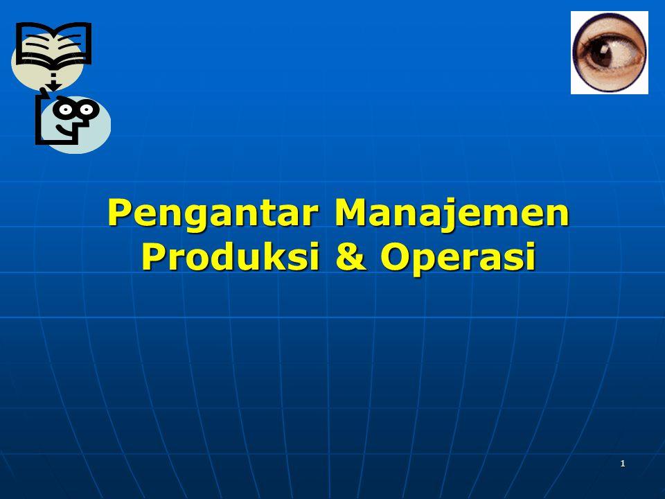 Pengantar Manajemen Produksi & Operasi