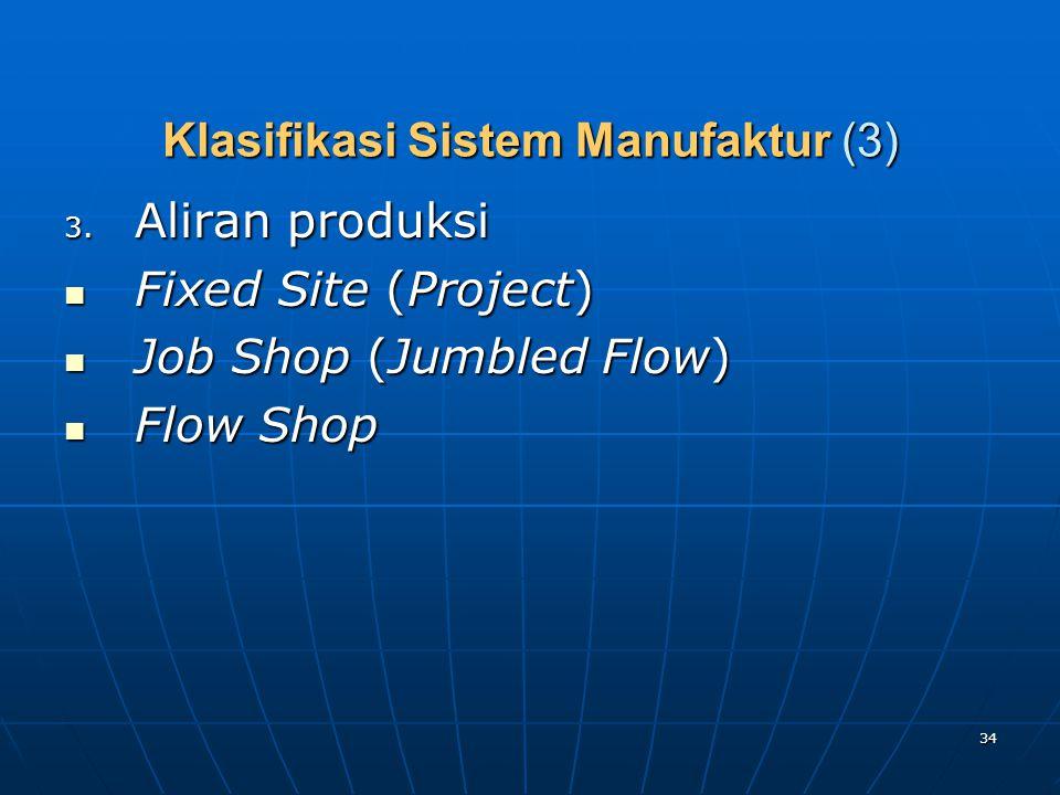 Klasifikasi Sistem Manufaktur (3)