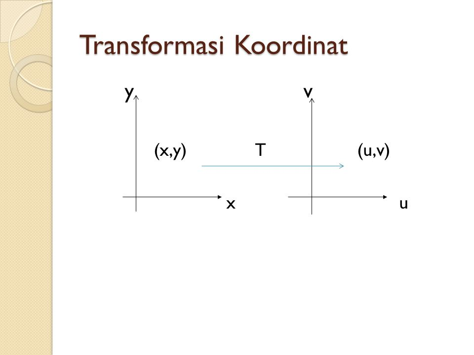 Transformasi Koordinat