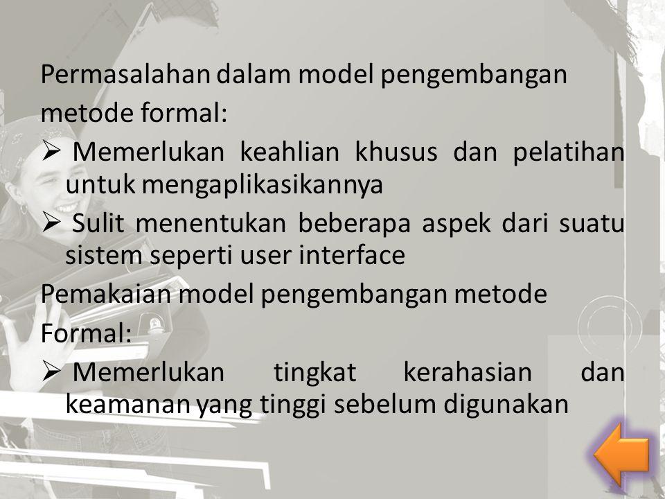 Permasalahan dalam model pengembangan