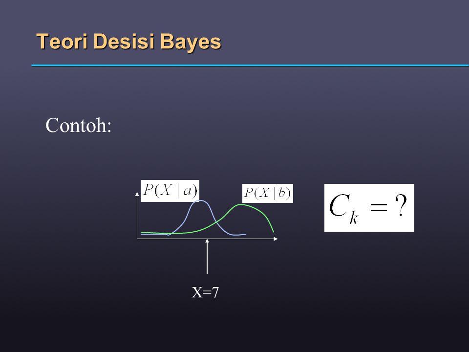 Teori Desisi Bayes Contoh: X=7